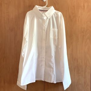 French Toast 18 Youth white button down shirt